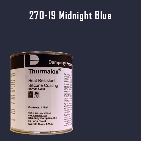 Fireplace Paint Colors  - Thurmalox Midnight Blue High Temperature Stove Paint - 1 Gallon Can