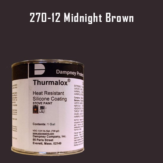 Fireplace Paint Colors  - Thurmalox Midnight Brown High Temperature Stove Paint - 1 Gallon Can