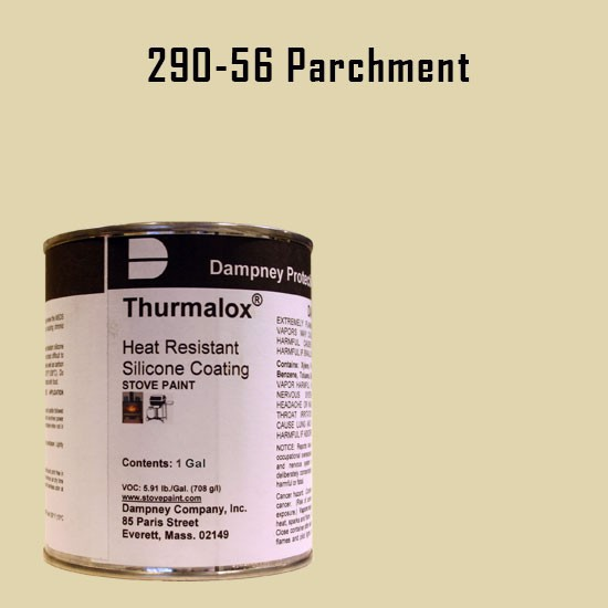 Fireplace Paint Colors  - Thurmalox Parchment High Temperature Stove Paint - 1 Gallon Can