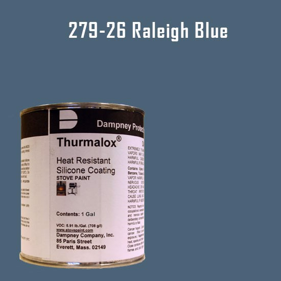 BBQ Paint - Thurmalox Raleigh Blue High Temperature Stove Paint - 1 Gallon Can