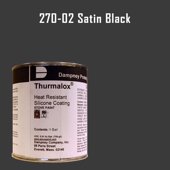 Fireplace Paint Colors  - Thurmalox Satin Black High Temperature Stove Paint - 1 Gallon Can