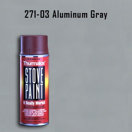 Heat Resistant Paint Colors  - Thurmalox Aluminum Gray Stove Paint - 12 oz. Aerosol Spray Can