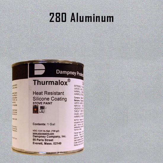 Fireplace Paint Colors  - Thurmalox Aluminum High Temperature Stove Paint - 1 Gallon Can