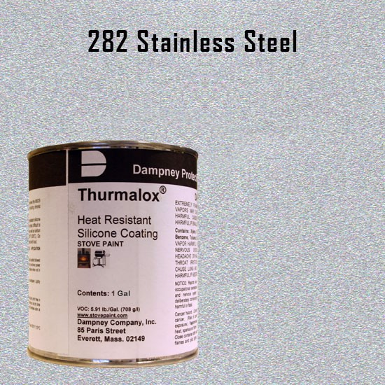 Fireplace Paint Colors  - Thurmalox Stainless Steel High Temperature Stove Paint - 1 Gallon Can