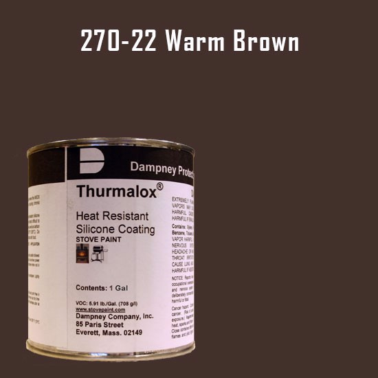 Fireplace Paint Colors  - Thurmalox Warm Brown High Temperature Stove Paint - 1 Gallon Can