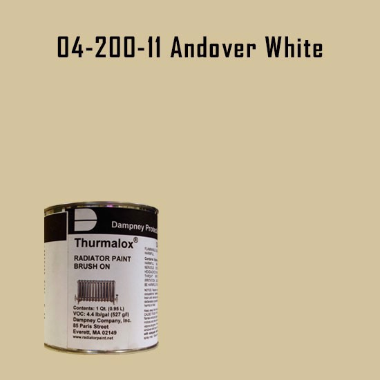 High Temperature Radiator Paint Colors  - Thurmalox® 200 Series  Andover White Radiator Paint - 1 Quart Can