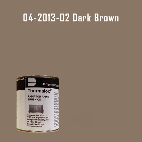 High Temperature Radiator Paint Colors  - Thurmalox® 200 Series  Dark Brown Radiator Paint - 1 Quart Can