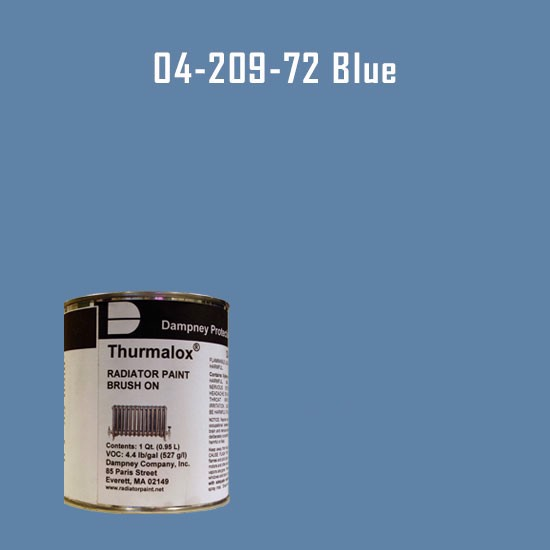High Temperature Radiator Paint Colors  - Thurmalox® 200 Series  Blue Radiator Paint - 1 Quart Can