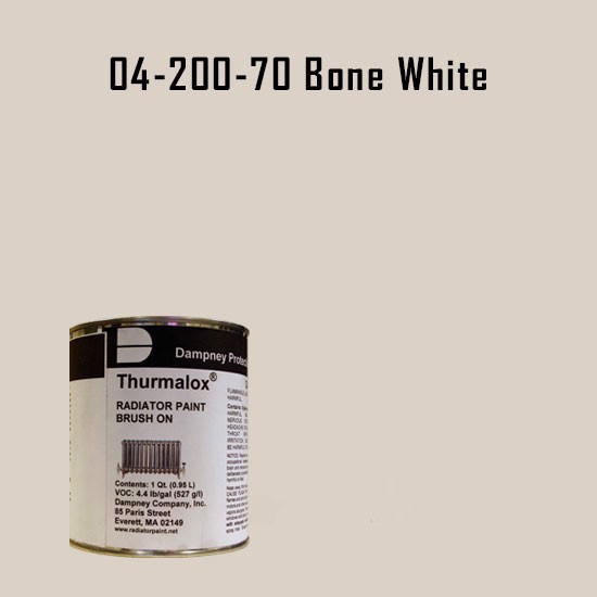 High Temperature Radiator Paint Colors  - Thurmalox® 200 Series  Bone White Radiator Paint - 1 Quart Can