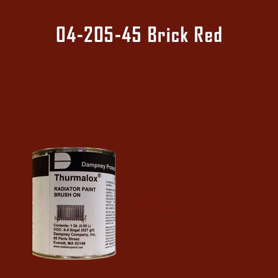 High Temperature Radiator Paint Colors  - Thurmalox® 200 Series  Brick Red Radiator Paint - 1 Quart Can