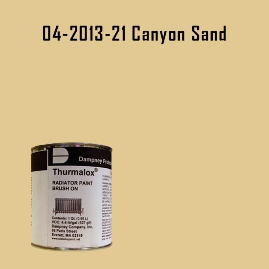 High Temperature Radiator Paint Colors  - Thurmalox® 200 Series  Canyon Sand Radiator Paint - 1 Quart Can