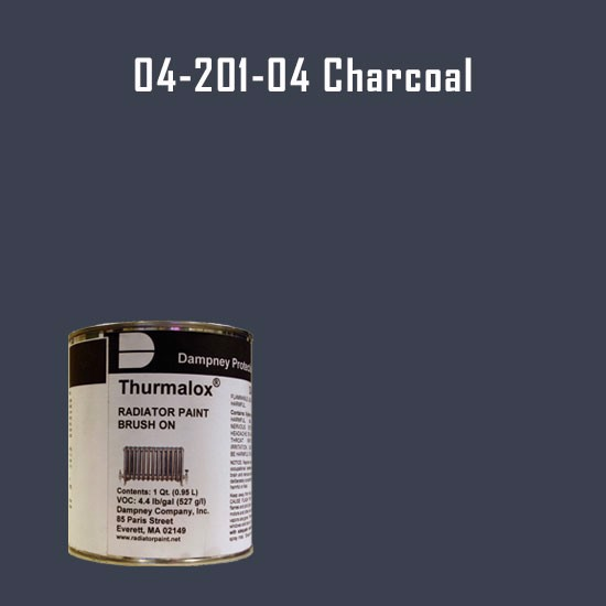 High Temperature Radiator Paint Colors  - Thurmalox® 200 Series  Charcoal Radiator Paint - 1 Quart Can