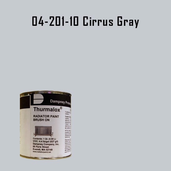 High Temperature Radiator Paint Colors  - Thurmalox® 200 Series Cirrus Gray Radiator Paint - 1 Quart Can