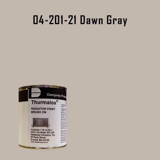 High Temperature Radiator Paint Colors  - Thurmalox® 200 Series Dawn Gray Radiator Paint - 1 Quart Can