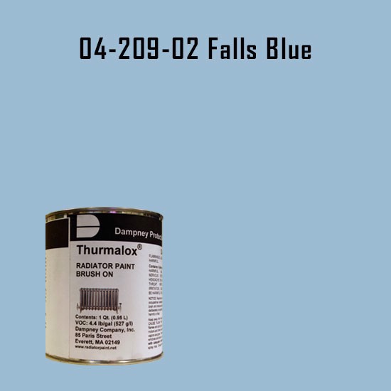 High Temperature Radiator Paint Colors  - Thurmalox® 200 Series Falls Blue Radiator Paint - 1 Quart Can