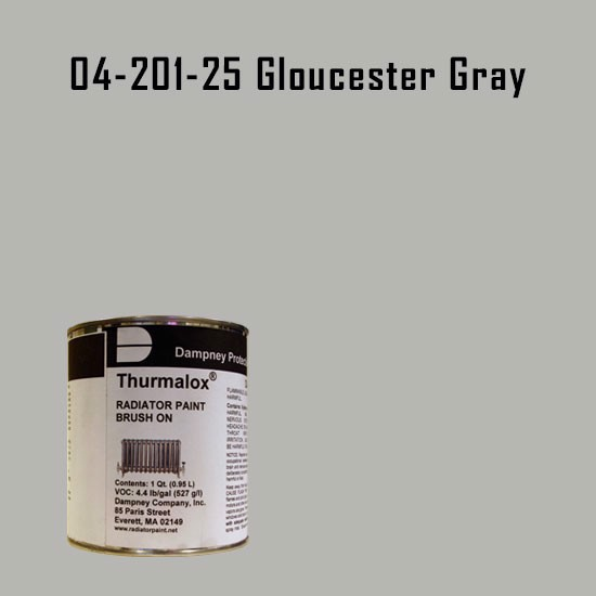 High Temperature Radiator Paint Colors  - Thurmalox® 200 Series Gloucester Gray Radiator Paint - 1 Quart Can