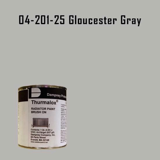 High Temperature Radiator Paint Colors  - Thurmalox® 200 Series Gloucester Gray Radiator Paint - 1 Quart Can