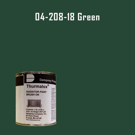 High Temperature Radiator Paint Colors  - Thurmalox® 200 Series Green Radiator Paint - 1 Quart Can