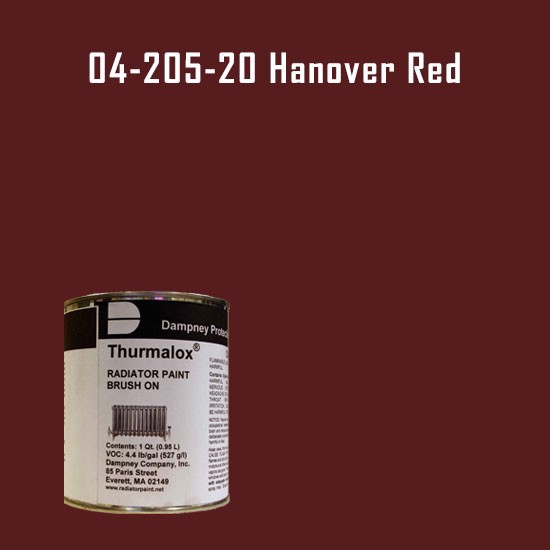 High Temperature Radiator Paint Colors  - Thurmalox® 200 Series Hanover Red Radiator Paint - 1 Quart Can