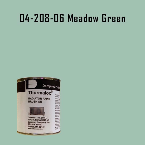 High Temperature Radiator Paint Colors  - Thurmalox® 200 Series Meadow Green Radiator Paint - 1 Quart Can