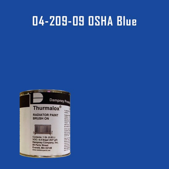 High Temperature Radiator Paint Colors  - Thurmalox® 200 Series OSHA Blue Radiator Paint - 1 Quart Can