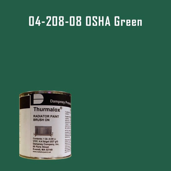 High Temperature Radiator Paint Colors  - Thurmalox® 200 Series OSHA Green Radiator Paint - 1 Quart Can