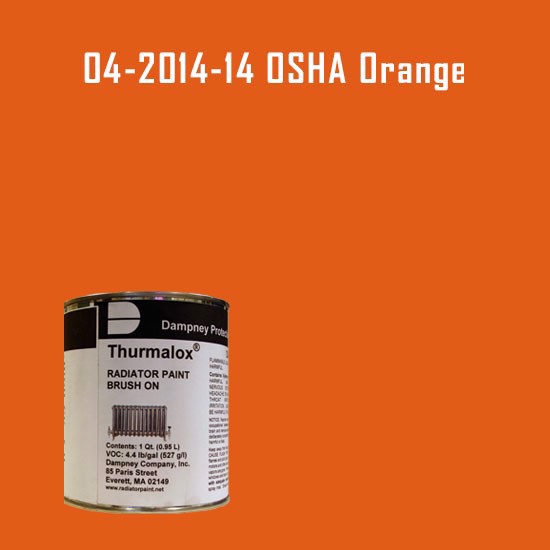 High Temperature Radiator Paint Colors  - Thurmalox® 200 Series OSHA Orange Radiator Paint - 1 Quart Can