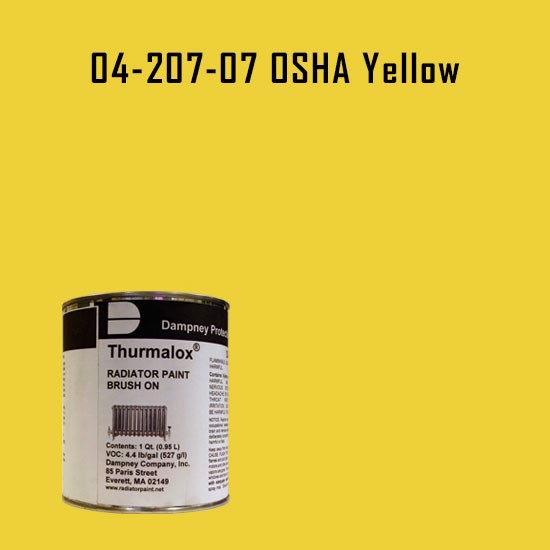High Temperature Radiator Paint Colors  - Thurmalox® 200 Series OSHA Yellow Radiator Paint - 1 Quart Can