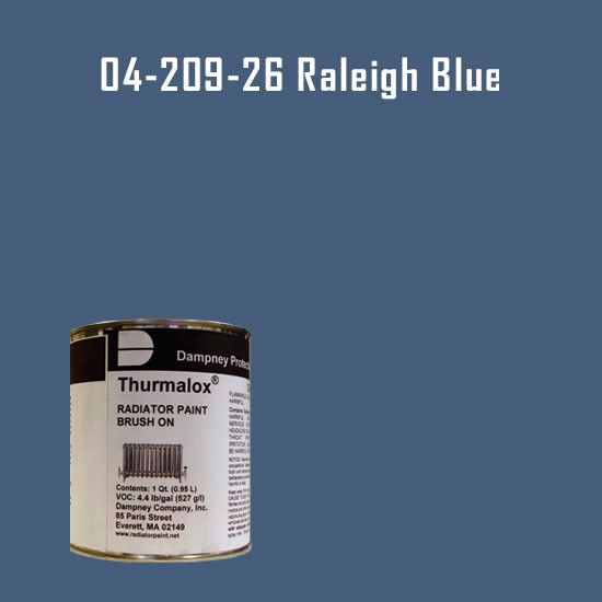 High Temperature Radiator Paint Colors  - Thurmalox® 200 Series Raleigh Blue Radiator Paint - 1 Quart Can