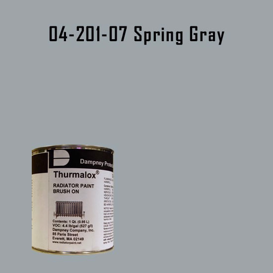 High Temperature Radiator Paint Colors  - Thurmalox® 200 Series Spring Gray Radiator Paint - 1 Quart Can