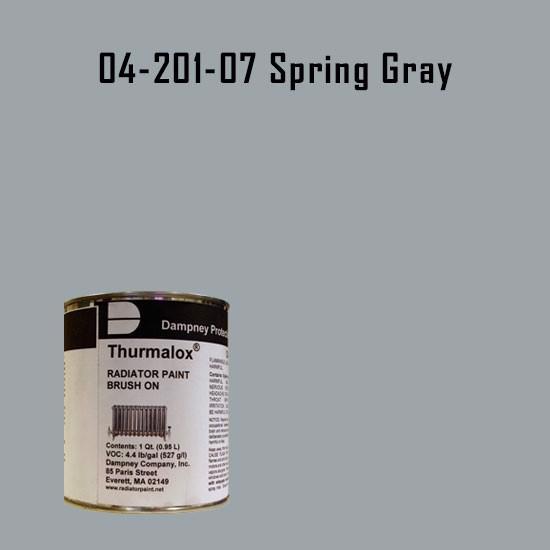High Temperature Radiator Paint Colors  - Thurmalox® 200 Series Spring Gray Radiator Paint - 1 Quart Can