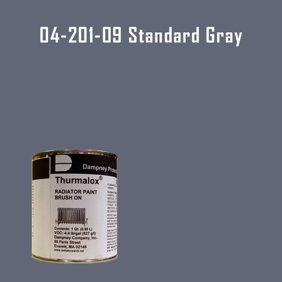 High Temperature Radiator Paint Colors  - Thurmalox® 200 Series Standard Gray Radiator Paint - 1 Quart Can