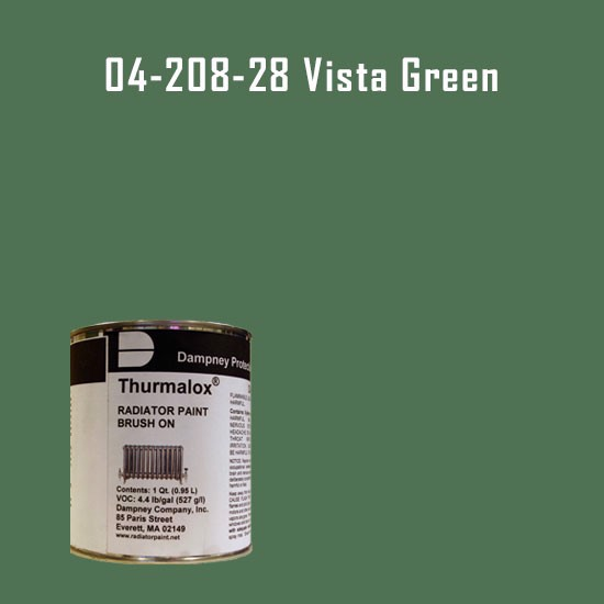High Temperature Radiator Paint Colors  - Thurmalox® 200 Series Vista Green Radiator Paint - 1 Quart Can