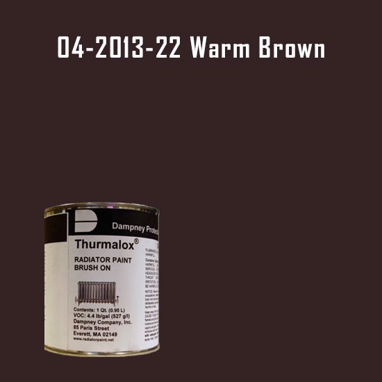 High Temperature Radiator Paint Colors  - Thurmalox® 200 Series Warm Brown Radiator Paint - 1 Quart Can