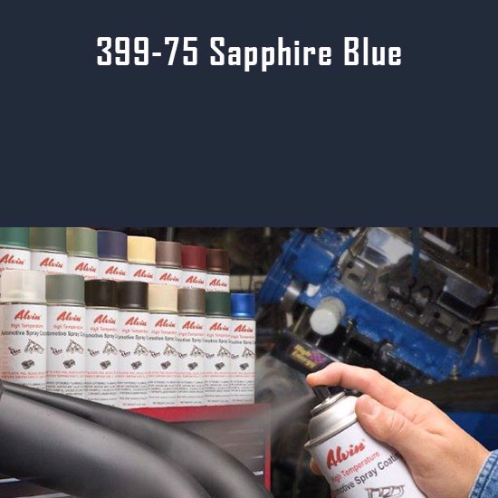 High Temperature Coatings - Alvin Products Sapphire Blue High Heat Automotive Engine Spray Paint - 12 oz. Aerosol Spray Can