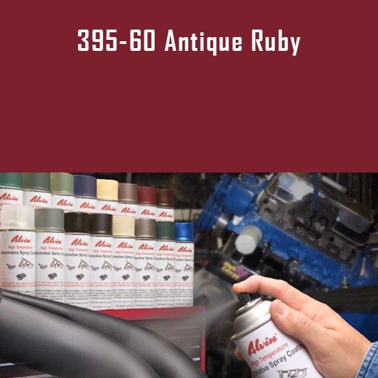 High Temperature Coatings - Alvin Products Antique Ruby High Heat Automotive Engine Spray Paint - 12 oz. Aerosol Spray Can
