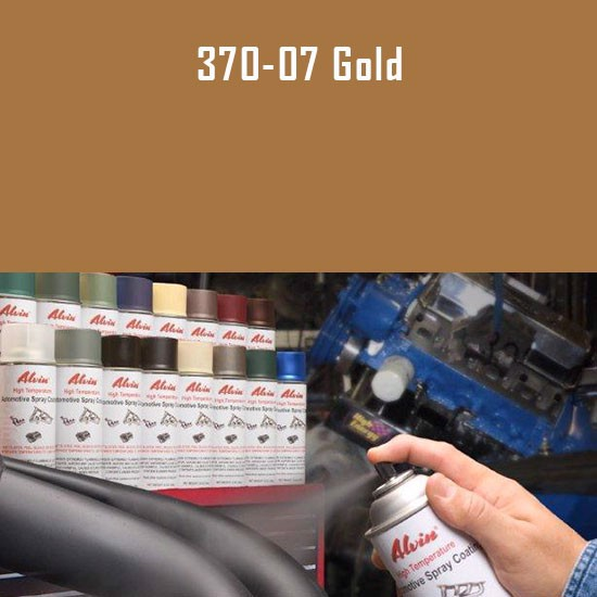 Heat Resistant Paint Colors  - Alvin Products Gold High Heat Automotive Engine Spray Paint - 12 oz. Aerosol Spray Can