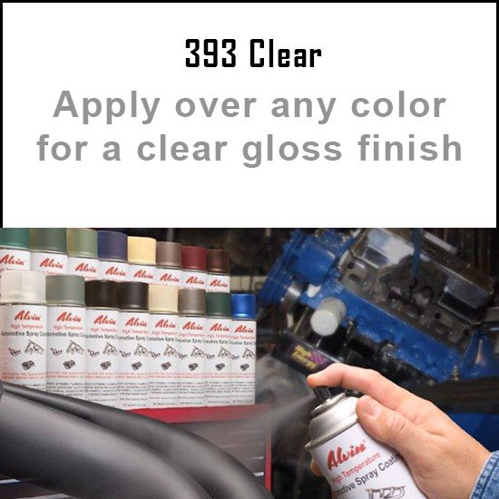 Heat Resistant Paint Colors  - Alvin Products Clear Gloss High Heat Automotive Engine Spray Paint - 12 oz. Aerosol Spray Can