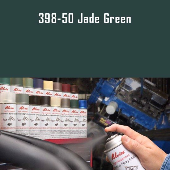 High Heat Paints - Alvin Products Jade Green High Heat Automotive Engine Spray Paint - 12 oz. Aerosol Spray Can