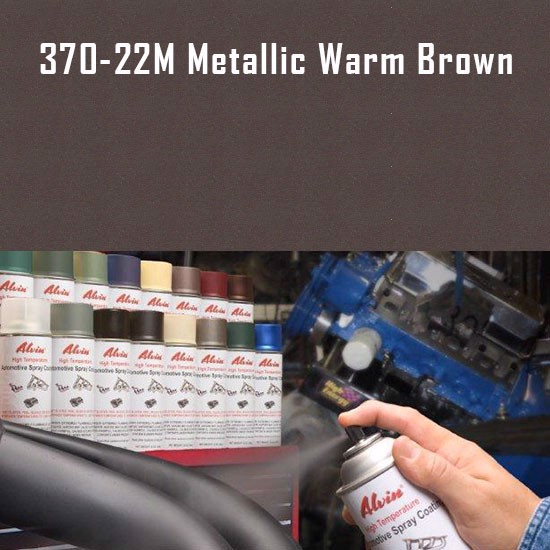 High Temperature Coatings - Alvin Products Metallic Warm Brown High Heat Automotive Engine Spray Paint - 12 oz. Aerosol Spray Can