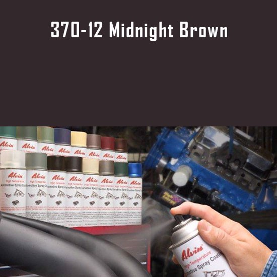 Heat Resistant Paint Colors  - Alvin Products Midnight Brown High Heat Automotive Engine Spray Paint - 12 oz. Aerosol Spray Can