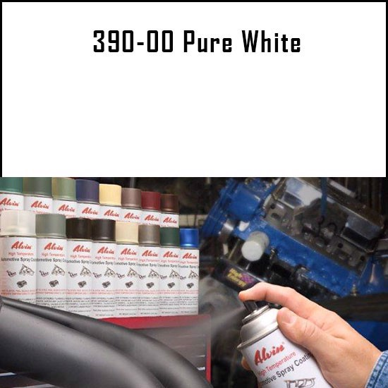 Heat Resistant Paint Colors  - Alvin Products Pure White High Heat Automotive Engine Spray Paint - 12 oz. Aerosol Spray Can