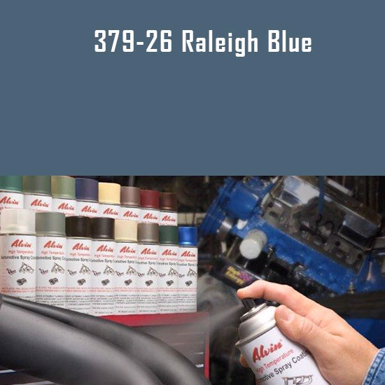 Brake Caliper Paint - Alvin Products Raleigh Blue High Heat Automotive Engine Spray Paint - 12 oz. Aerosol Spray Can