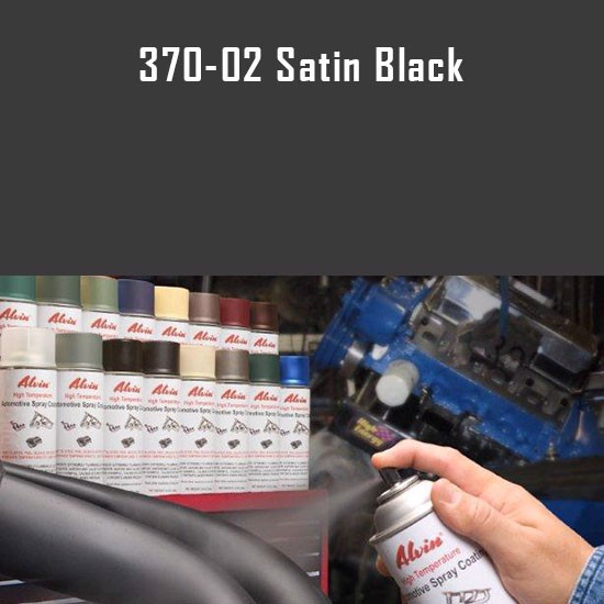 Brake Caliper Paint - Alvin Products Satin Black High Heat Automotive Engine Spray Paint - 12 oz. Aerosol Spray Can
