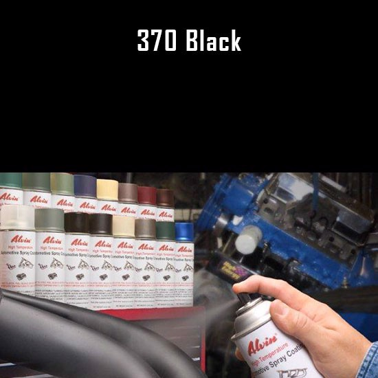 High Temp Spray Paint - Alvin Products Black High Heat Automotive Engine Brush or Spray Paint - 1 Quart Can
