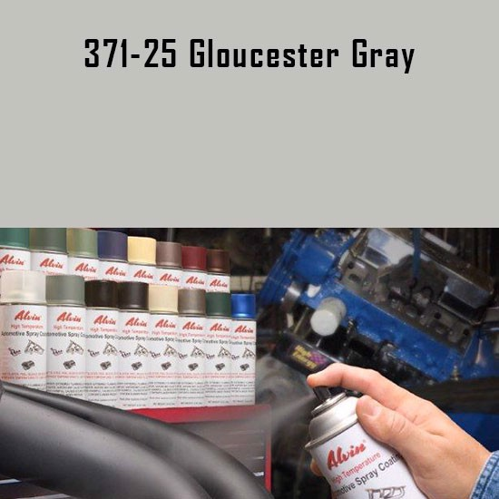 High Temp Spray Paint - Alvin Products Gloucester Gray High Heat Automotive Engine Brush or Spray Paint - 1 Quart Can.