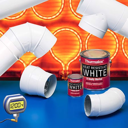 Heat Resistant Paint Colors  - Thurmalox Pure White High Temperature Stove Paint - 1 Quart Can