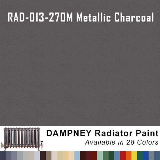 High Temperature Radiator Paint Colors  - Thurmalox® 200 Series Metallic Charcoal Radiator Paint - 12 Oz Aerosol Can.