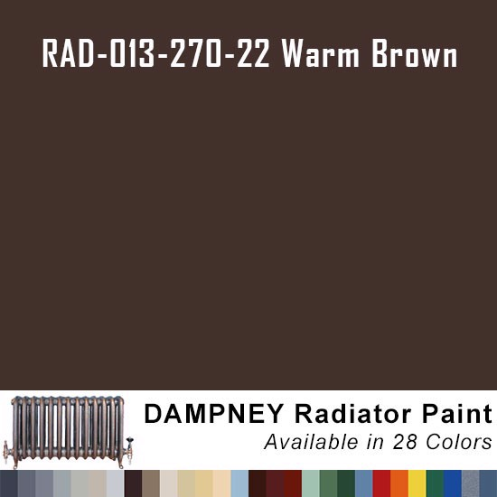 High Temperature Radiator Paint Colors  - Thurmalox® 200 Series Warm Brown Radiator Paint - 12 Oz Aerosol Can