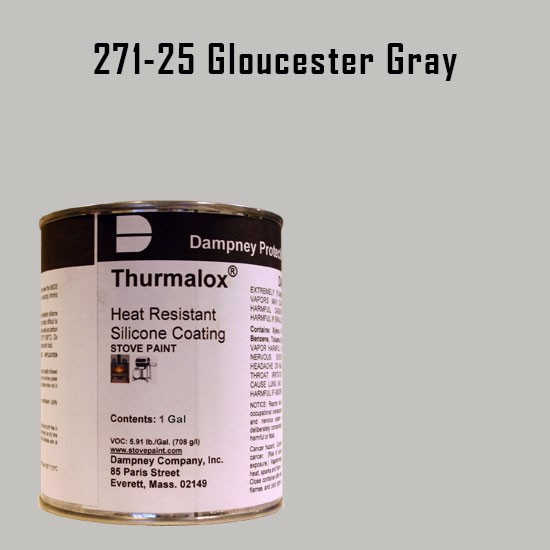 Fireplace Paint Colors  - Thurmalox Gloucester Gray High Temperature Stove Paint - 1 Gallon Can